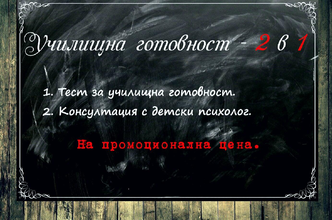 Училищна готовност 2 в1 е комплексна психологическа услуга предоставяна от психолозите Михаил Михайлов и Елена Мечева.